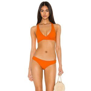 L*Space Sandy Classic Bikini Bottom in Tangerine